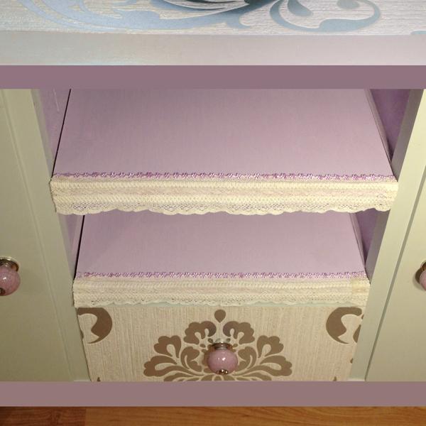 kommode 50er jahre flieder grau valentina prachtst cke. Black Bedroom Furniture Sets. Home Design Ideas